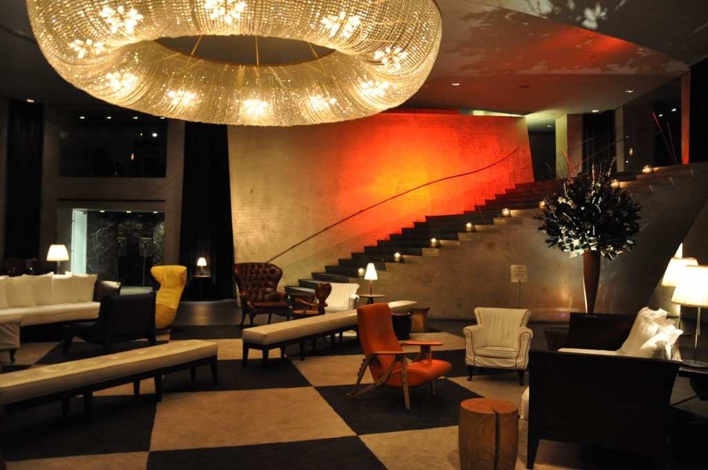 the Paramount Hotel New York near Times Square NYC hotel lobby