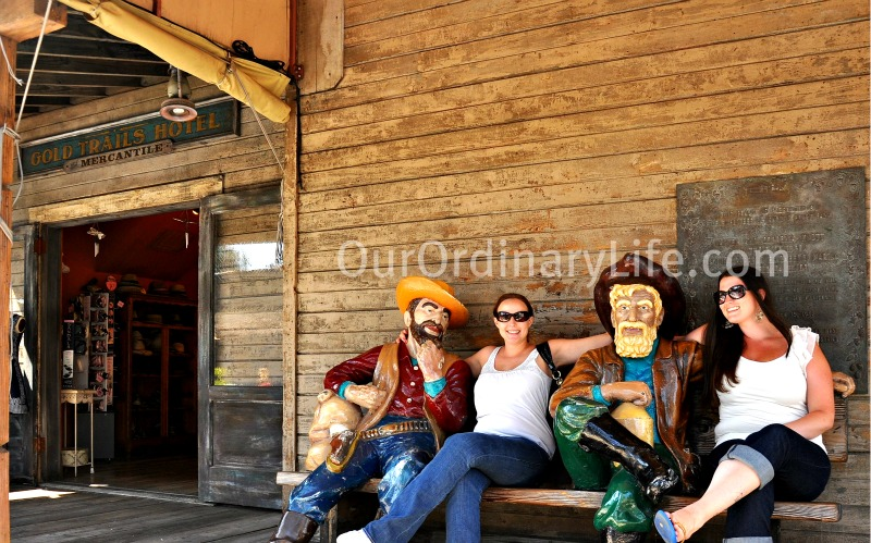 Posing with Cowboys outside Ghosttown Shop Knotts Berry Farm