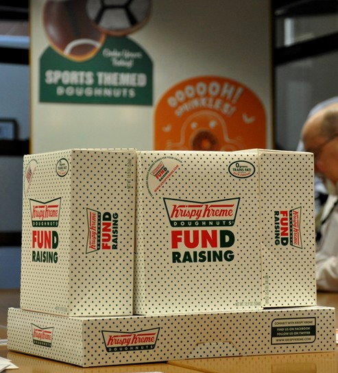krispy kreme fund raising doughnut box