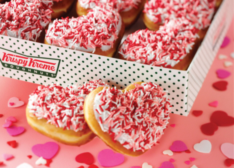 krispy kreme heart shaped doughnuts