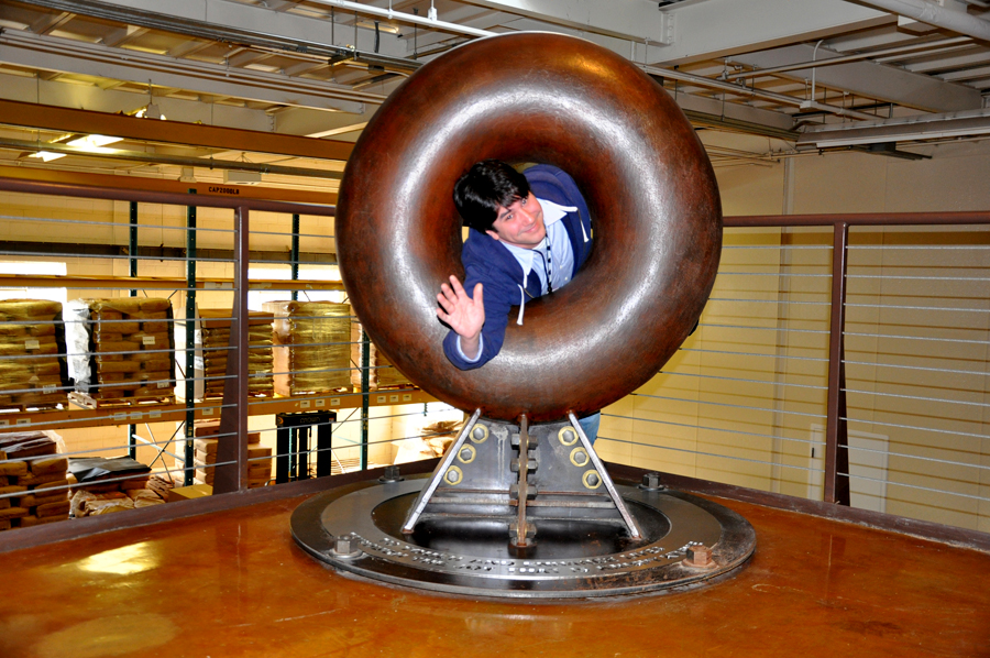 giant bronze donut statue at krispy kreme HQ winston salem