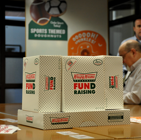 krispy kreme doughnut box fund raising