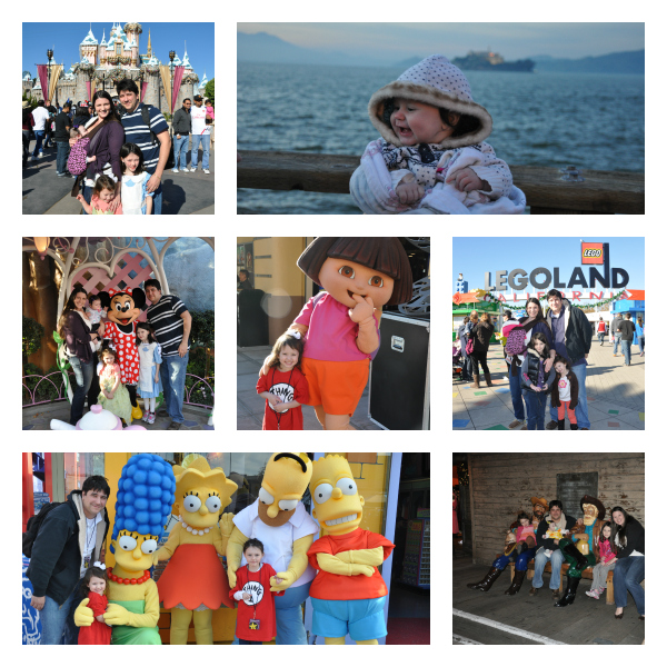 our ordinary life family at disneyland legoland universal studios winter time california