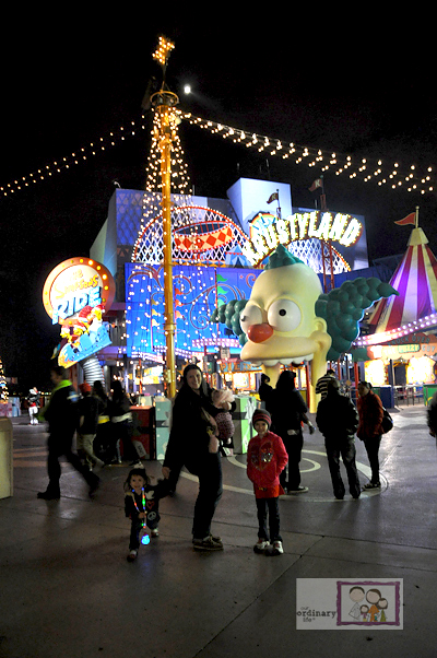 krusty universal studios hollywood simpsons night christmas lights - When Does Universal Studios Hollywood Decorate For Christmas