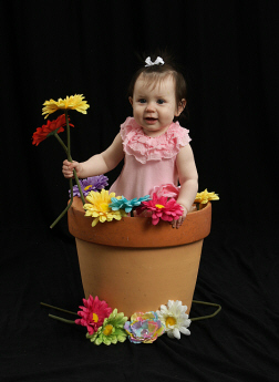 mia flower pot 9 months old