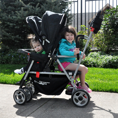 The Joovy Caboose Ultralight Stand On Tandem Stroller