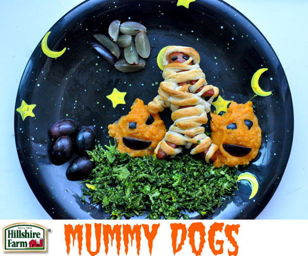 Mummy Hot Dogs With Arms And Legs