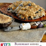 Blueberry Scones with Jif Cashew Butter Frosting