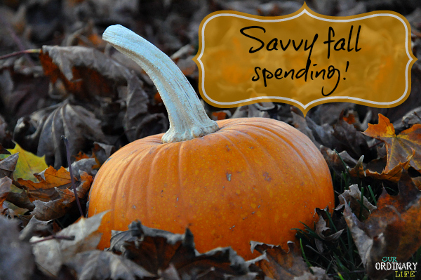 savvy fall spending tips