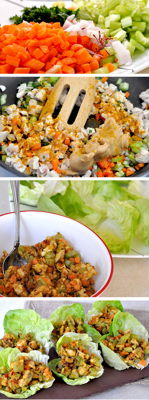 Jif Peanut Chicken Curry Lettuce Wraps