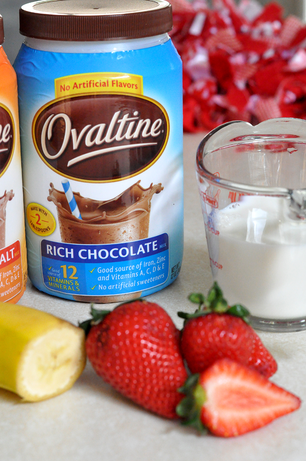 Strawberry Banana Ovaltine® Chocolate Malt - Our Ordinary Life
