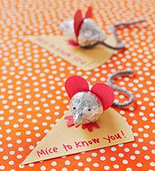 mice valentine craft