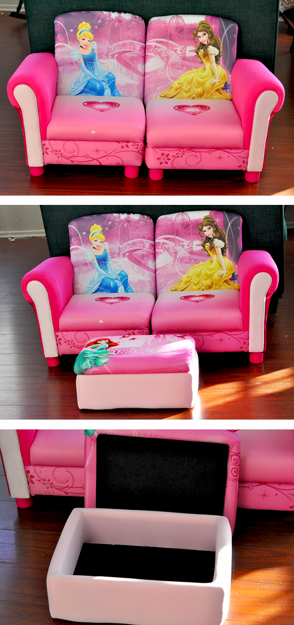 Delta Childrens 3pc Disney Princess Couch (3)