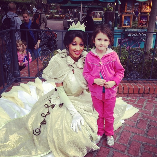 tiana and brooklin 4 years old disneyland 2014