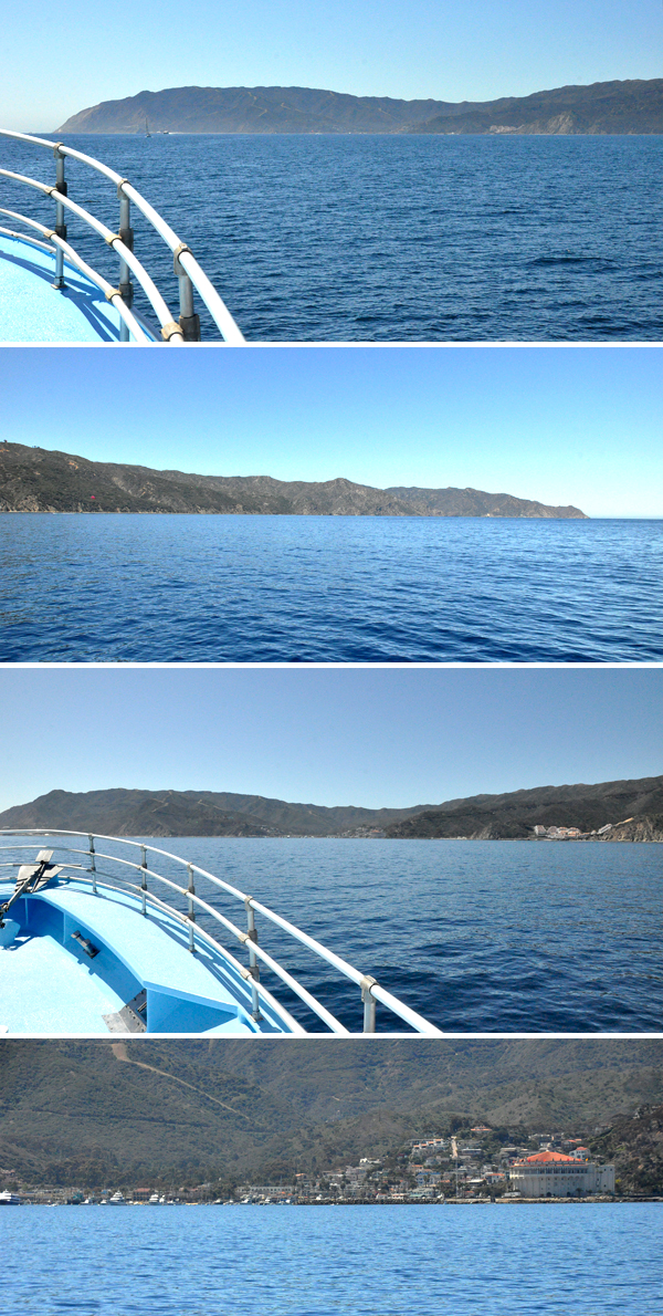 arriving to catalina island from long beach