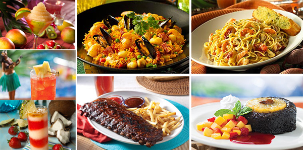 Bahama Breeze Food Ribs Pasta Seafood Dessert Drinks