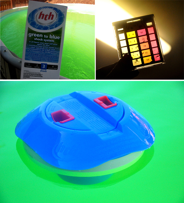 HTH Pool Products Green To Blue Shock Chlorine Level Test