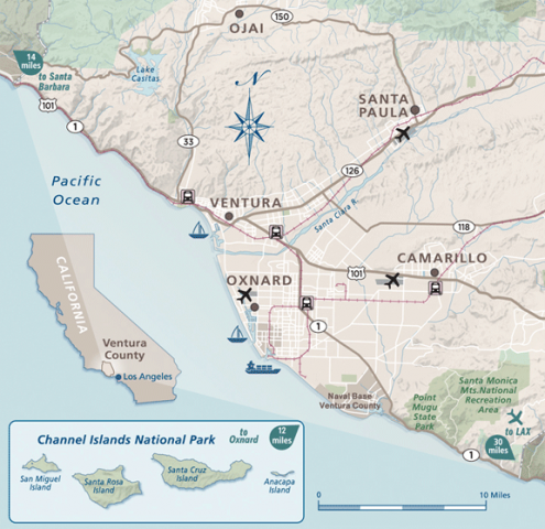 map of channel islands Ventura ca