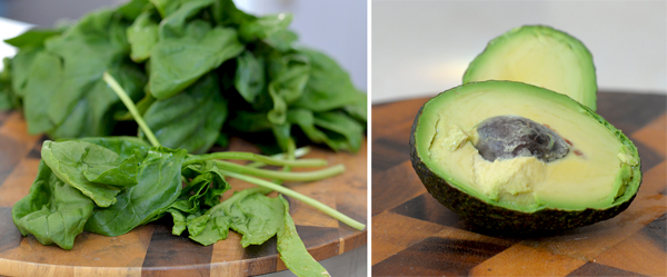 avocado spinach fresh