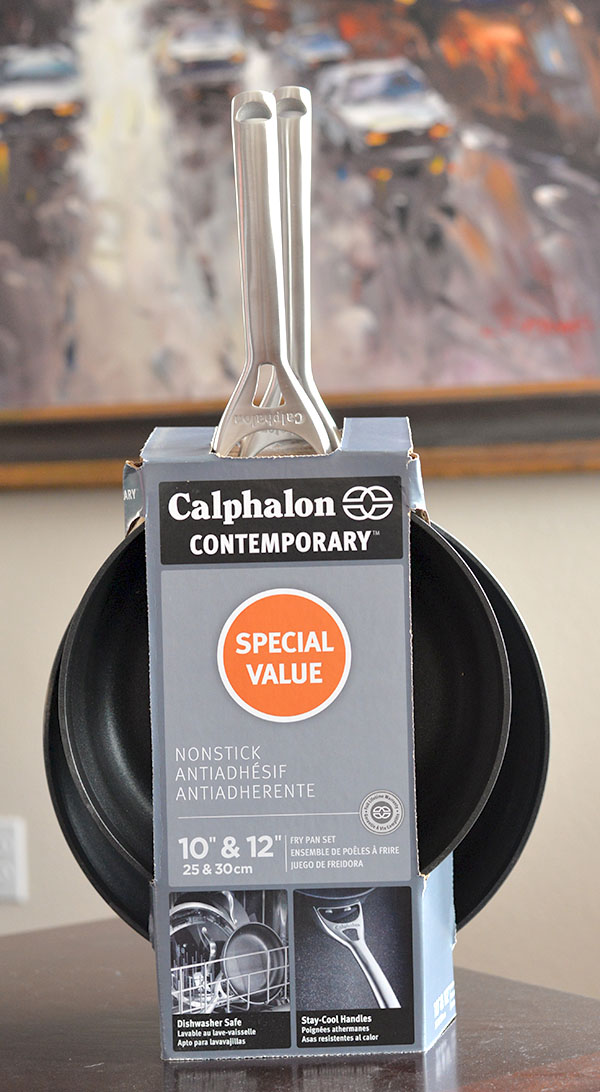 Calphalon COntempory 10 12 inch skillet pack (2)