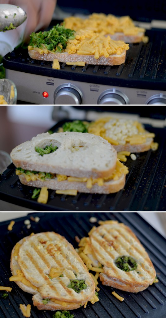 Grilled Broccolli Kernal Corn Mac Cheese sandwich with shapes cutout (6)