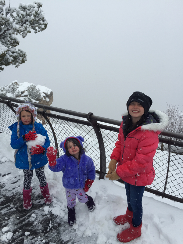 Kids Grand Canyon Snow Winter