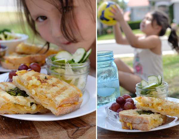 Mac Cheese sandwich picnic