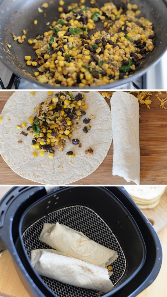 Kids Lunch Back To School Ideas Goldfish Wet Ones Air Fry Corn Bean Burrito