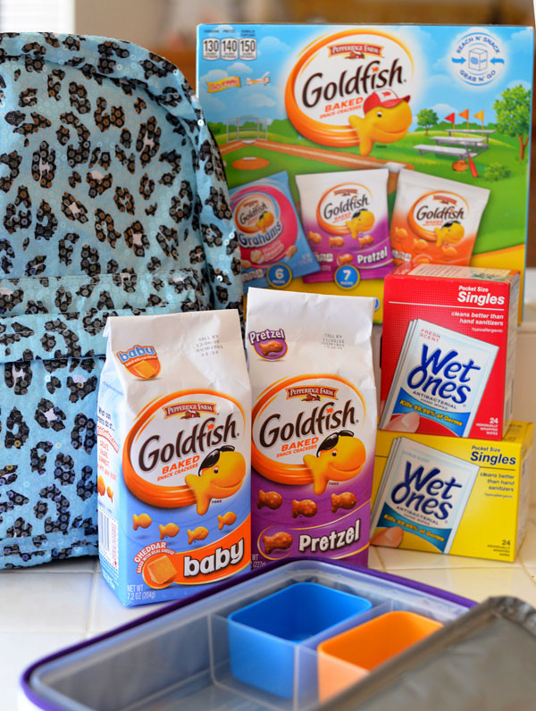 Kids Lunch Back To School Ideas Goldfish Wet Ones