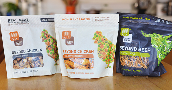 Beyond Meat Beyond Grilled Chicken Strips non meat Beefy Crumble