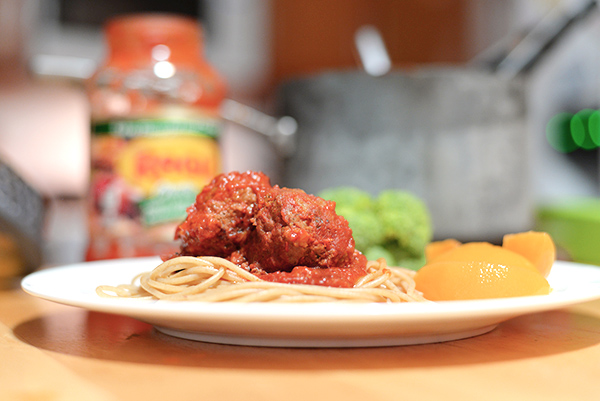 Traditional Spaghetti Meatball Homemade Dinner By Kids