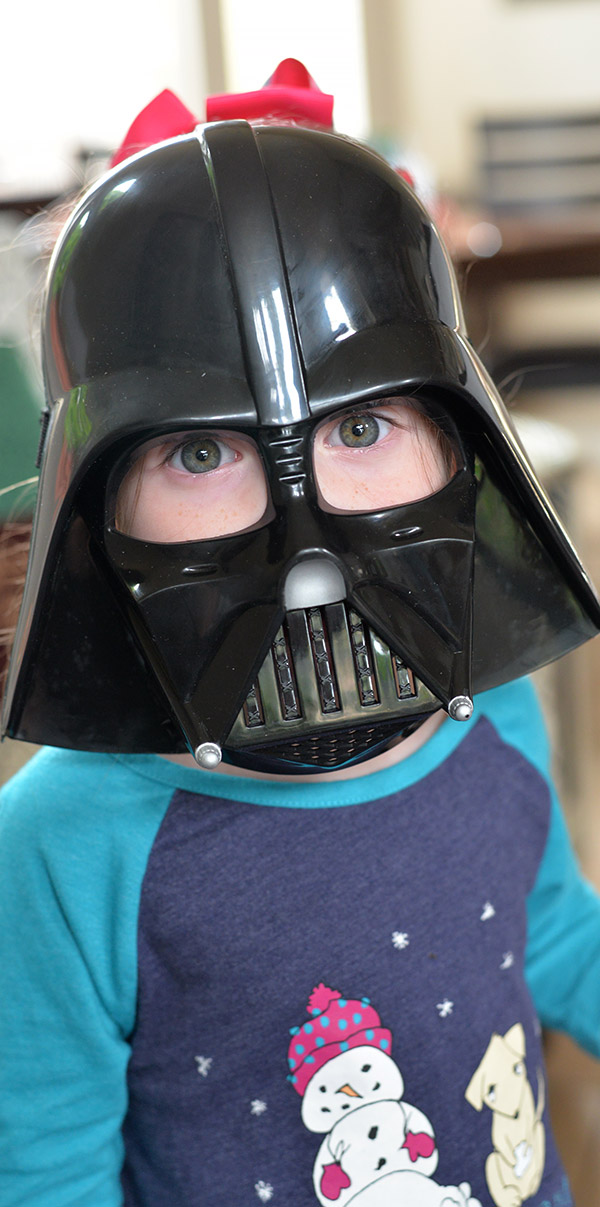Star Wars My Baby Toddler Wearing Darth Vader Mask