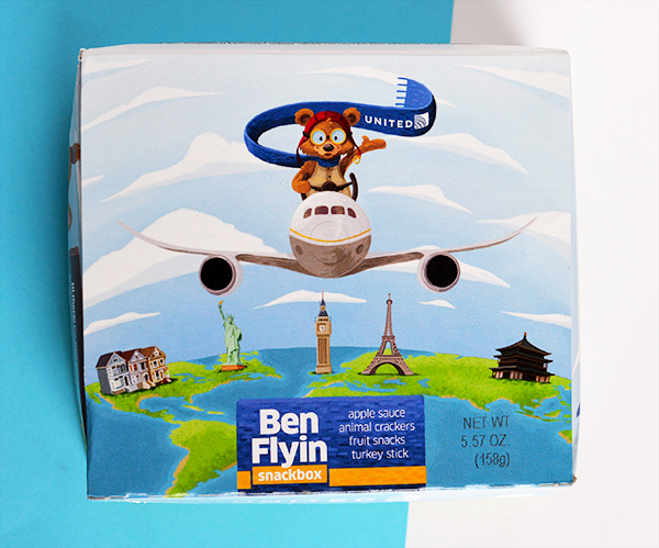 United Airlines Ben Flyin Snackbox United Airlines Kid
