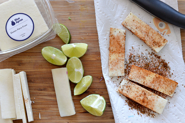 blue apron fried cheese