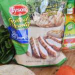 Easy Summer Lunch – Italian Grilled Chicken and Spinach Wrap
