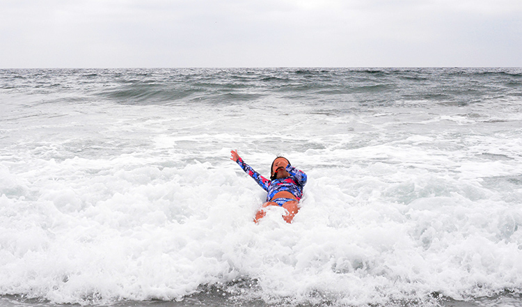 Brooklin 7 year old falling into ocean