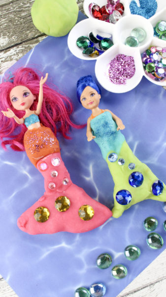 diy mermaid play doh tails