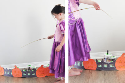 Halloween pumpkin fishing for candy craft for kids (4)