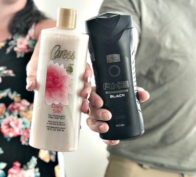 caress and axe body wash