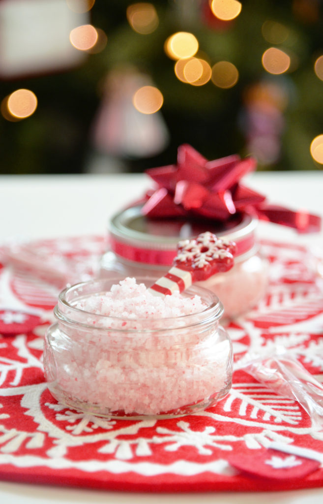real peppermint foot hand scrub holiday recipe diy