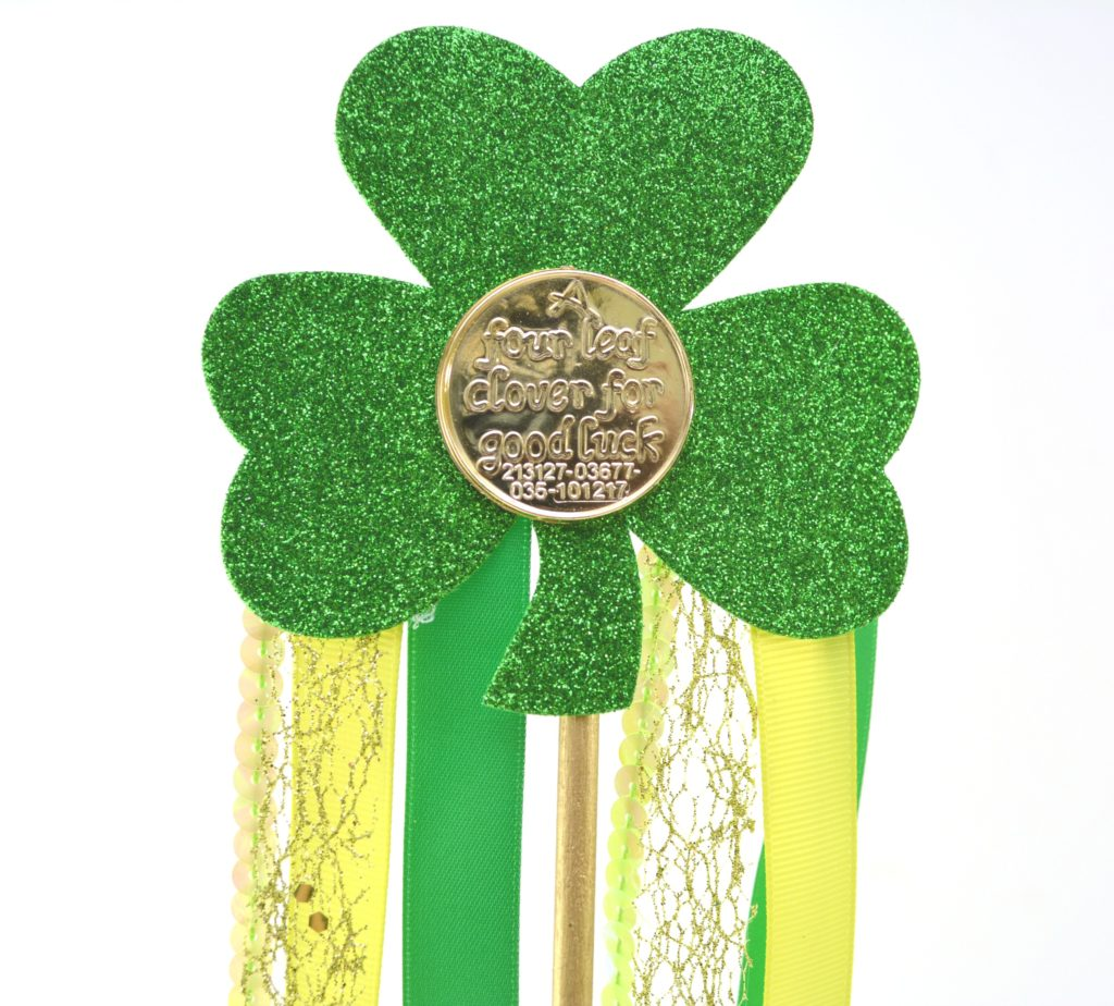 Crafting With Kids - Shamrock Wand Craft