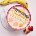 Strawberry Pineapple Breakfast Smoothie Bowl