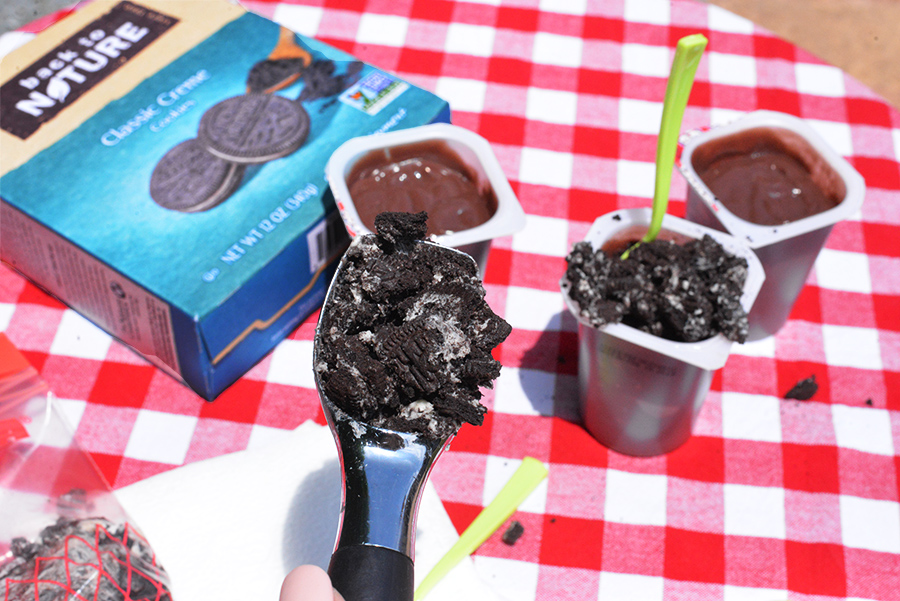 back to nature garden dirt cups pudding cookies simple recipe