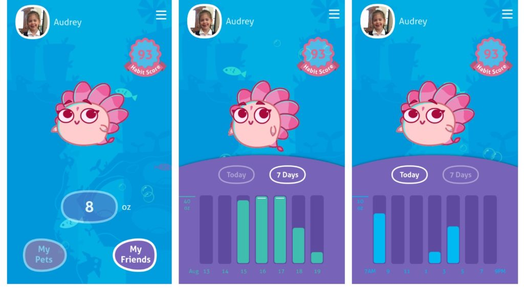 gululu go kids water bottle app