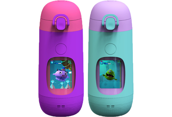 gululu go kids water bottle purple teal colorful