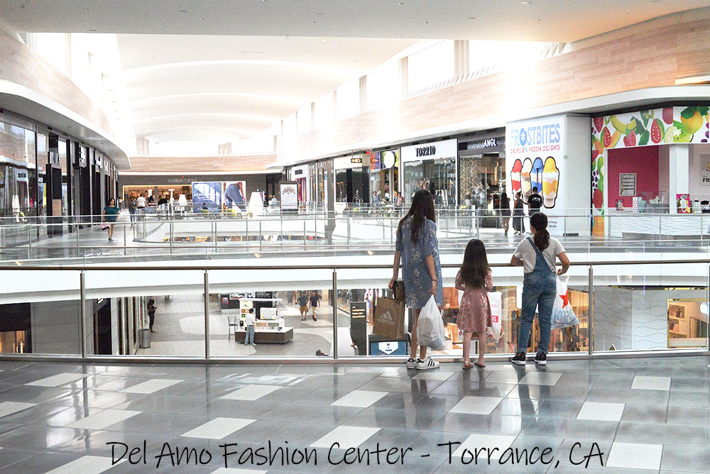 Del Amo Fashion Center mall Torrance CA view inside