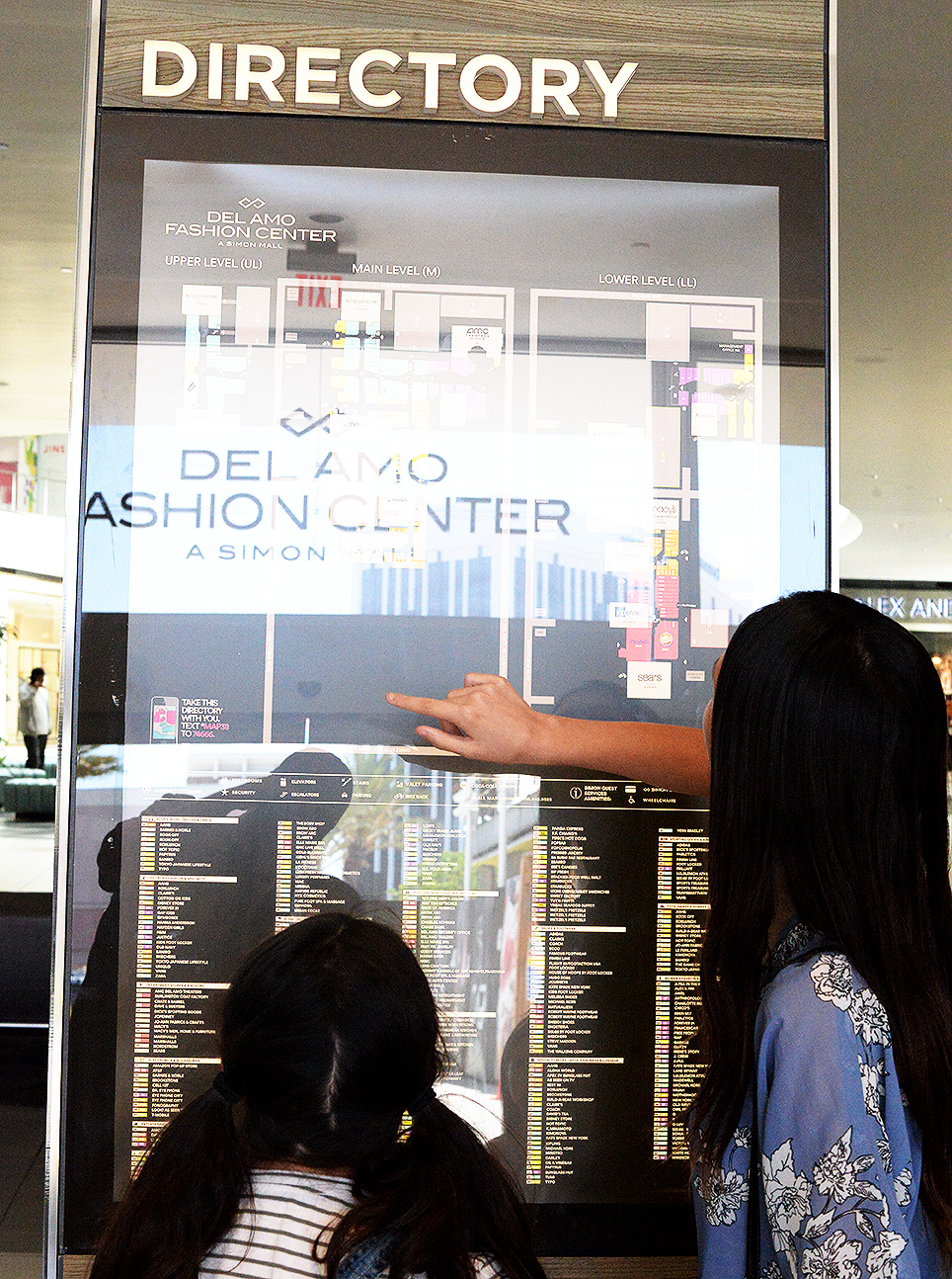 Del Amo Fashion Center simon mall directory