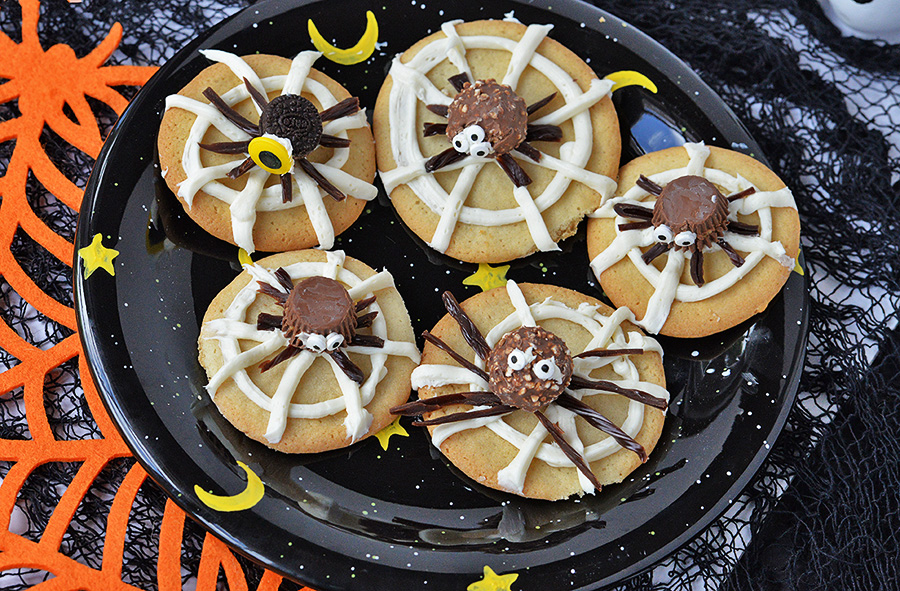 Easy Spider Halloween Cookies