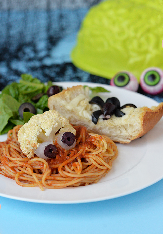 Halloween Dinner Idea – Eyeball Spaghetti