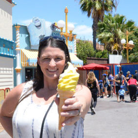disneyland california adventure adorable frosted treats its snow-capped lemon soft serve cone
